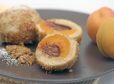 Marelični cmoki z nougat kremo iz parne pečice