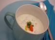 Hladna zelenjavno-smetanova juha