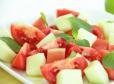 Paradižnikova solata z melono in lubenico