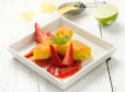 Limetina polenta z jagodnim kompotom
