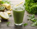 Salat-Rucola-Obst-Smoothie