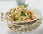 Shrimpscocktail in Joghurt-Mango-Sauce