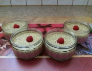 Himbeercreme mit Vanille-Chia-Topping