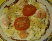 Ham and Eggs mit Tomate