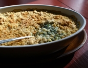 Creamy Hominy Spinach Casserole