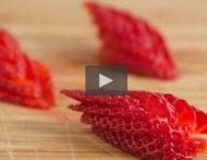 Video - Erdbeerschiffchen schnitzen