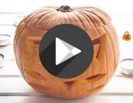 Halloween-Kürbis schnitzen