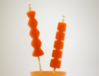 Pomarančne kocke led...