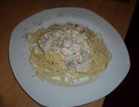 Špageti z lososom in...