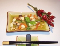 Azijska juha s tofuj...