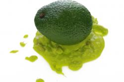 Unreife Avocado