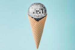Discoball-Eiscreme
