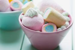 Marshmallows Sortiment in Schale