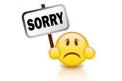 Wir entschuldigen uns für die heutige Störung und schenken
