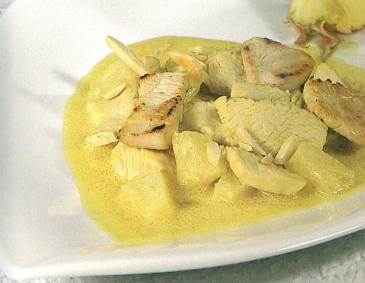 Puten Curry mit Ananas