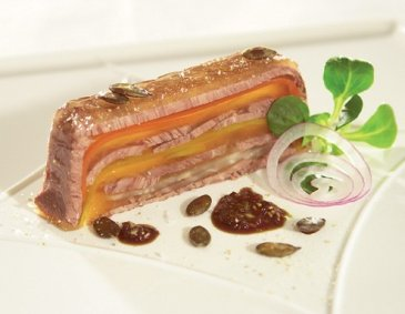 Sacher Tafelspitz aspic with lamb's lettuce