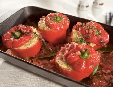 Stuffed peppers, Sacher-Style