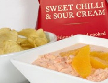 Sweet Chilli & Vodka Orangen Dip für Chips