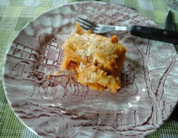 Rote Linsenlasagne