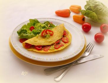 omelett mit speck und k se rezept. Black Bedroom Furniture Sets. Home Design Ideas