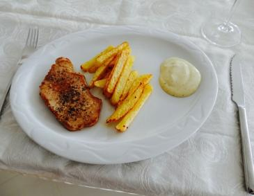 Minuten Steak mit Ofen-Pommes