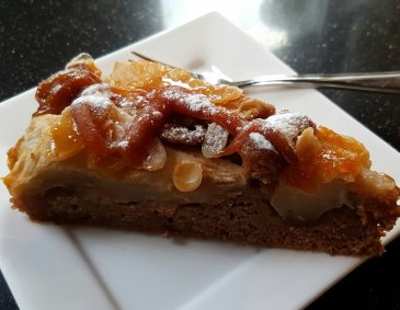 Advents-Tarte mit salted Caramel Topping