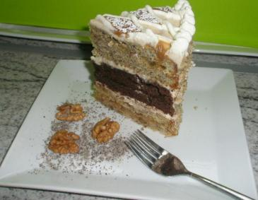 Mohn-Walnuss Torte