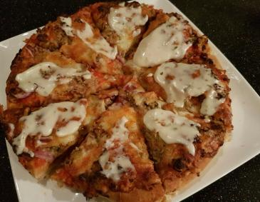Thunfisch-Pizza