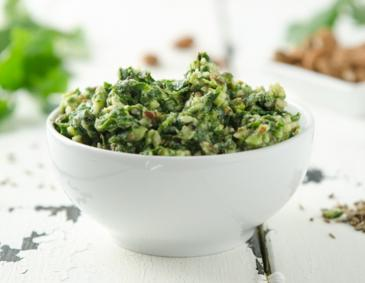 Petersilienpesto mit Aquafaba