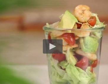 Video - Avocadosalat mit Garnelen