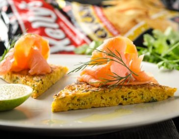 Lachs-Tortilla mit Tortilla-Chips