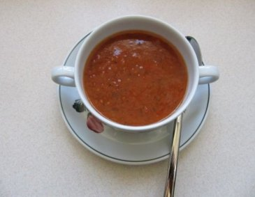 Knoblauch-Tomatensuppe