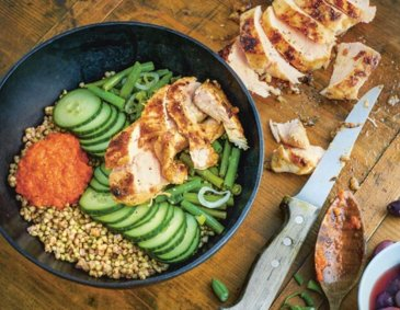 Lemonlike roasted Chicken-Bowl