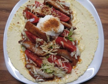 Crispy Chicken Wrap Mexicana