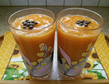 Papaya-Kaki Smoothie
