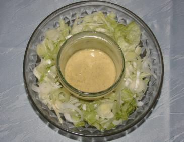 French Dressing mit Knoblauch