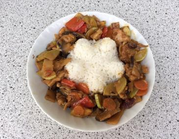 Curry-Madras mit Reis