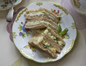 English Afternoon Tea Sandwiches