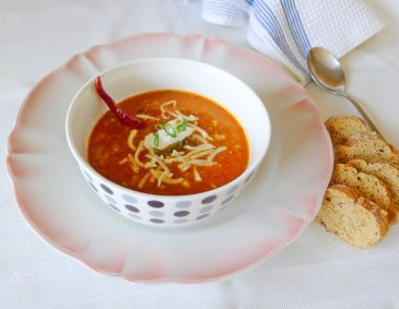 Chili-Suppe con Sauerkraut