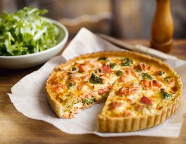 Lachs-Brokkoli-Quiche