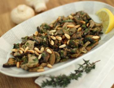 knusprige champignons aus der hei luftfritteuse rezept. Black Bedroom Furniture Sets. Home Design Ideas