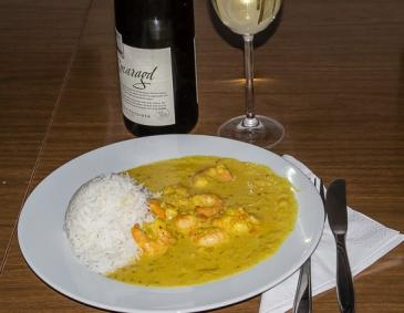 Shrimps in Kokossauce