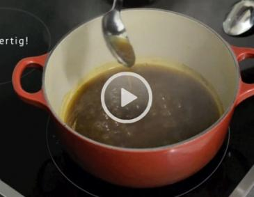 Video - Sauce binden