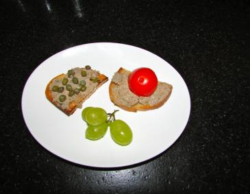 Crostini mit Leberfarce
