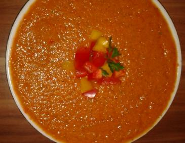 Orange Paprikaschaumsuppe