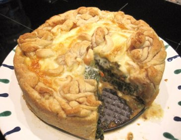 Spinat-Camembert-Quiche