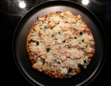 Spinat-Lachs-Pizza