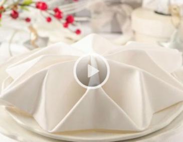 videos servietten falten. Black Bedroom Furniture Sets. Home Design Ideas