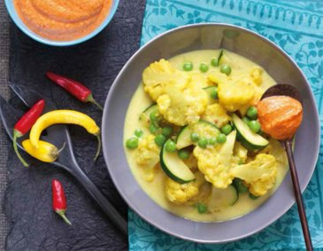 Karfiol-Zucchini-Curry
