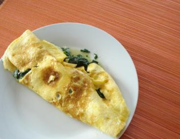 Omelette mit Spinat